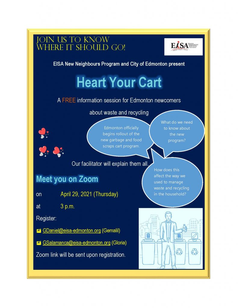 Heart Your Cart info session for newcomers