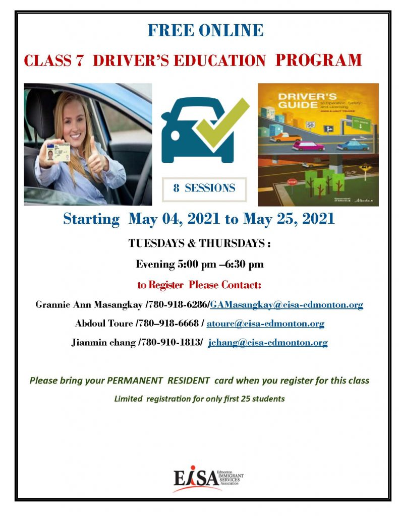 Free online class 7 driver's education program provided by EISA