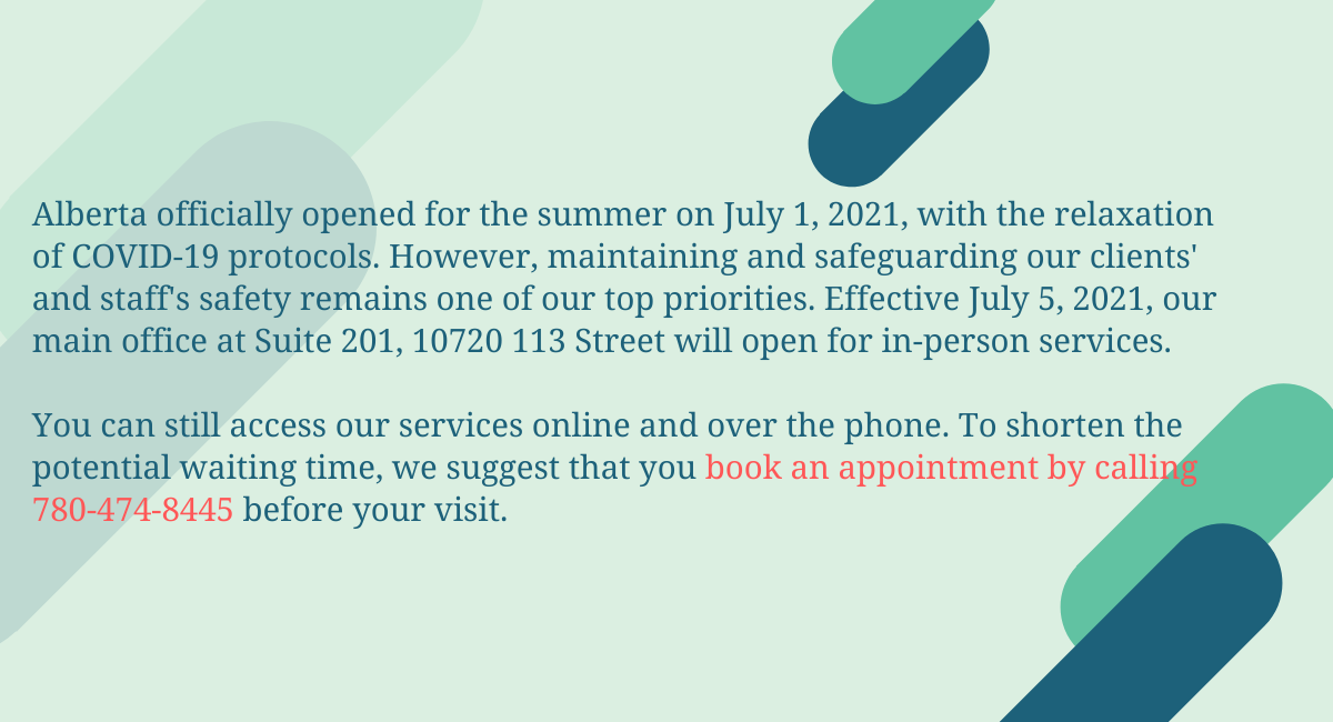 EISA's main office is open on July 5 for in-person services.